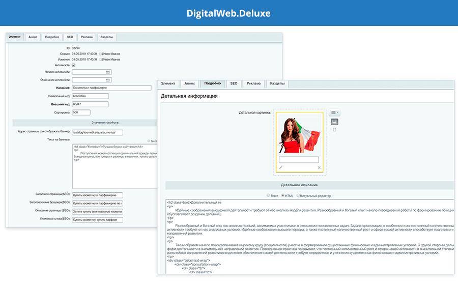 Интерфейс DigitalWeb.Deluxe